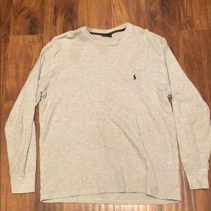 Men's thermal gray sweatshirt Polo Ralph Lauren L